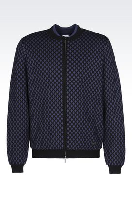 Armani Cardigans Men cardigan in wool and cashmere
