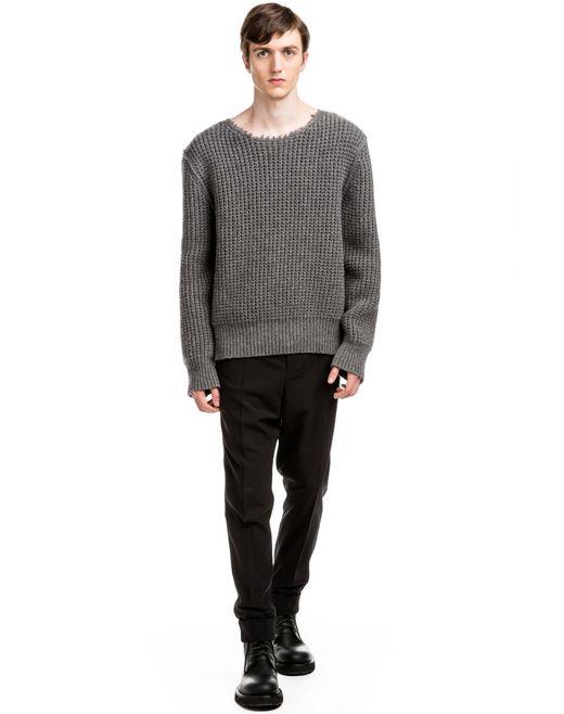 lanvin round-neck sweater men