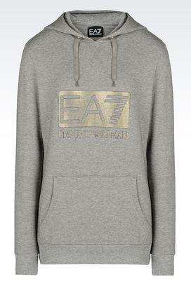 Armani Hooded sweatshirts Women french terry hooded sweatshirt