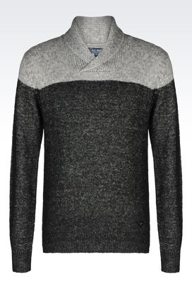 Armani V  neck sweaters Men colour block sweater