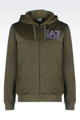 Armani Hooded sweatshirts Men visibility line hooded sweatshirt