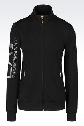 Armani Zip sweatshirts Women stretch cotton sweatshirt