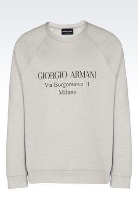 Armani Top in maglia Uomo felpa in jersey di cotone