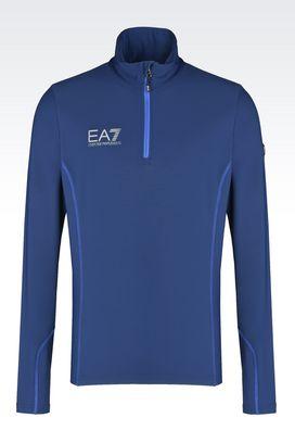 Armani Zip sweatshirts Men technical ski fleece with carvico® technology