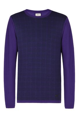 Armani Crewneck sweaters Men cotton jacquard crew neck sweater