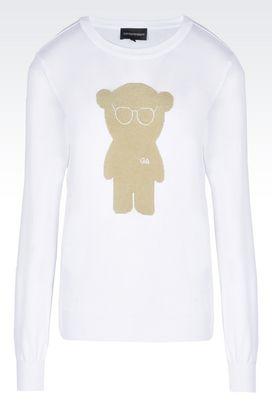 Armani Sweatshirts Women cotton jacquard sweater