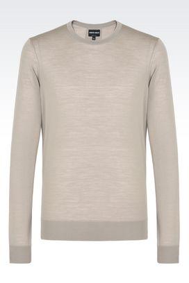Armani Maglioni Uomo maglia girocollo in pura lana