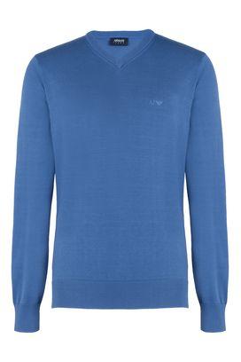 Armani V  neck sweaters Men 100% cotton v-neck sweater
