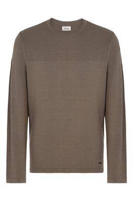Armani Crewneck sweaters Men ribbed crew neck sweater