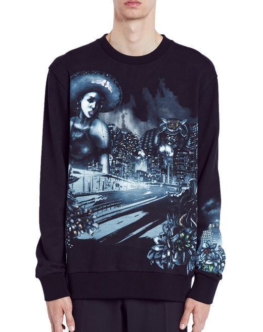 "lanvin ""lonely town"" sweatshirt men"