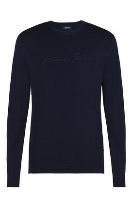 Armani Crewneck sweaters Men crew neck signature logo sweater