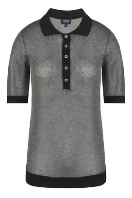 Armani Maglie collo a polo Donna polo in viscosa lurex