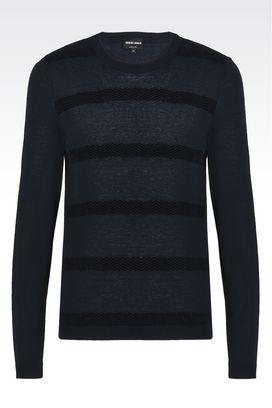 Armani Maglioni Uomo maglia girocollo in misto lana