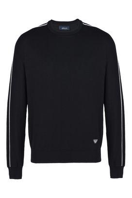 Armani Crewneck sweaters Men polished cotton crew neck sweater