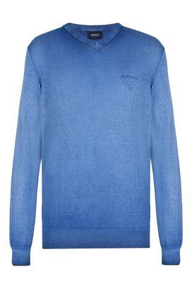 Armani Crewneck sweaters Men 100% cotton v-neck sweater