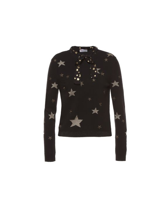 195ea9ebf18 REDValentino Star Embroidered Wool Sweater - Knit Sweater for Women ...