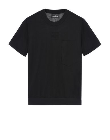 510A5 CATCH POCKET T-SHIRT WITH CHAMBER POCKETS (PURE WOOL/NYLON DETAILS, 12 GAUGE)