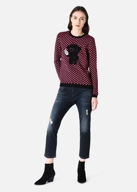 Armani Sweaters Women wool blend sweater with polka dots and manga bear patch