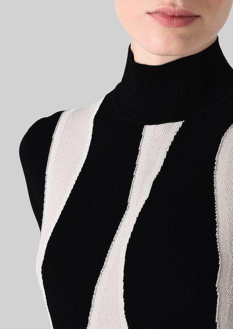 VISCOSE BLEND SWEATER: Sweaters Women by Armani - 5