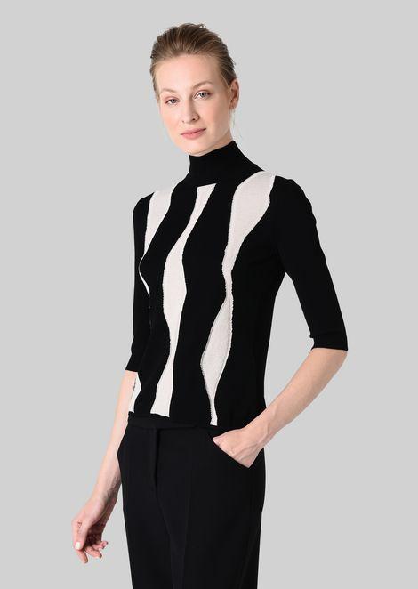 VISCOSE BLEND SWEATER: Sweaters Women by Armani - 3