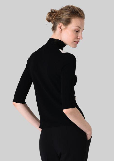 VISCOSE BLEND SWEATER: Sweaters Women by Armani - 4