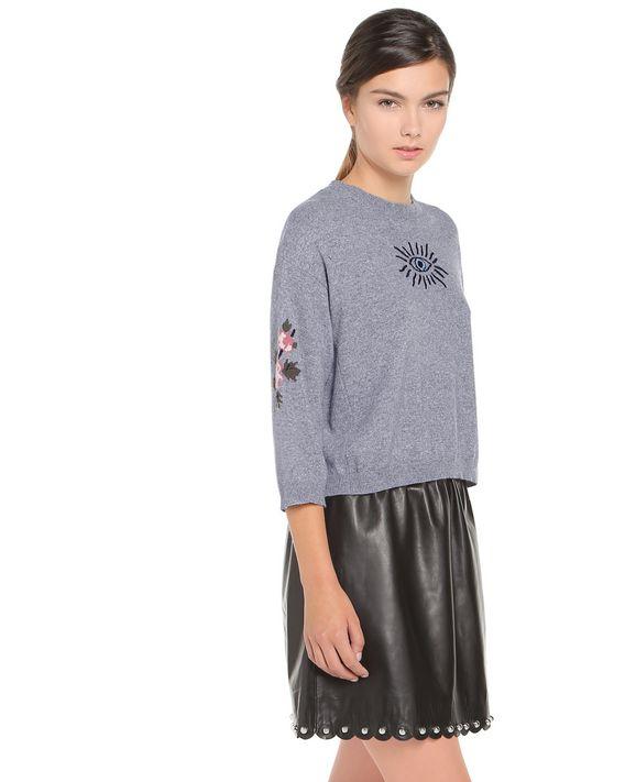 REDValentino NR0KC1133DD DG8 Knit Sweater Woman d