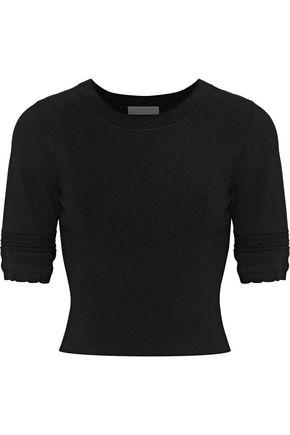산드로 SANDRO Glorius stretch-knit top,Black