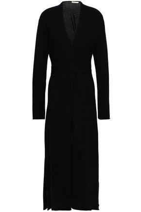 마쥬 MAJE Marina wool and cashmere-blend cardigan,Black