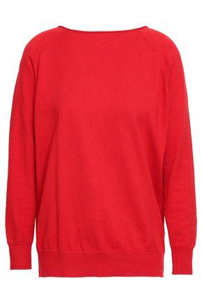 마쥬 스웨터 MAJE Chain-embellished cotton-blend sweater,Red