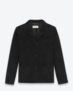 Signature Western Jacket in Black Suede