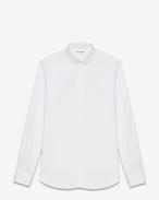 Chemise Saint Laurent à col Dylan, en popeline de coton blanche
