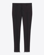 SIGNATURE LOW-WAISTED SKINNY TROUSER IN BLACK WOOL GABARDINE