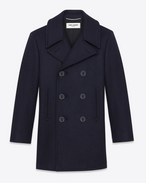 Classic Caban Marin in Navy Blue Wool