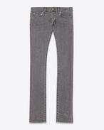 Original Low Waisted Slim Jean in Dark Grey Stretch Denim