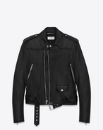 Motorcycle Jacket in Black Leather