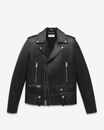 Classic Motorcycle Jacket nera in pelle