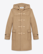 Duffle coat classic color cammello in lana