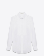 classic evening shirt in white cotton poplin