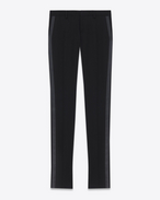 Iconic Le Smoking Tube Trouser in Black Grain de Poudre Textured Virgin Wool