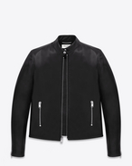 Classic Racing Jacket in Black Leather
