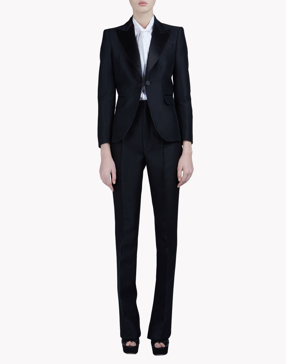 wool silk blake suit combined look Woman Dsquared2