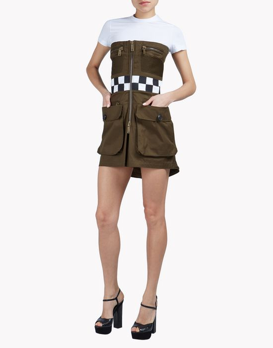 mod biker dress dresses Woman Dsquared2