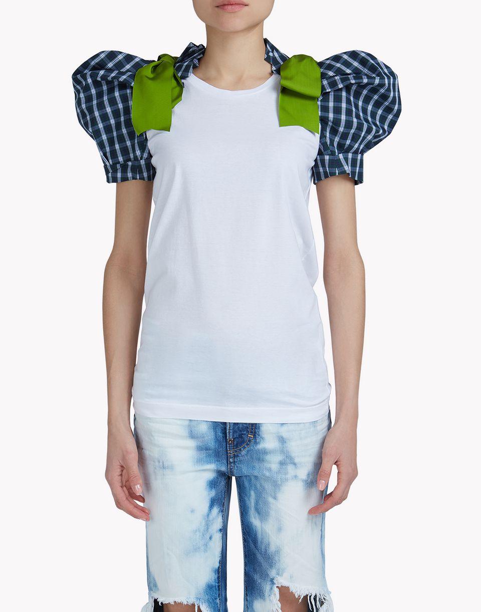 check heraldic t-shirt top wear Woman Dsquared2