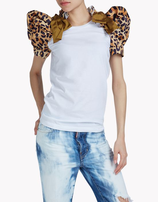 leopard heraldic t-shirt tops & tees Woman Dsquared2