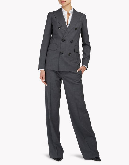 double-breasted suit combined look Woman Dsquared2