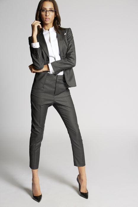 wool power suit combined look Woman Dsquared2