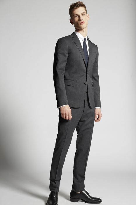 shadow stripe paris suit suits Man Dsquared2
