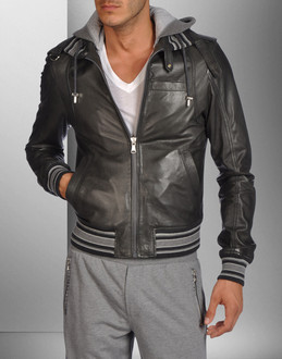 D&G - Leather outwear