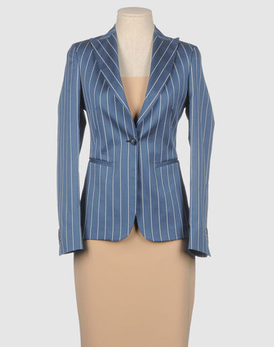 BRIAN DALES - Blue Pinstripe Blazer :  blazer brian dales jacket summer
