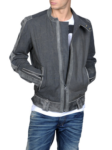 DIESEL - Leather jackets - LIJAGARD 00IYP